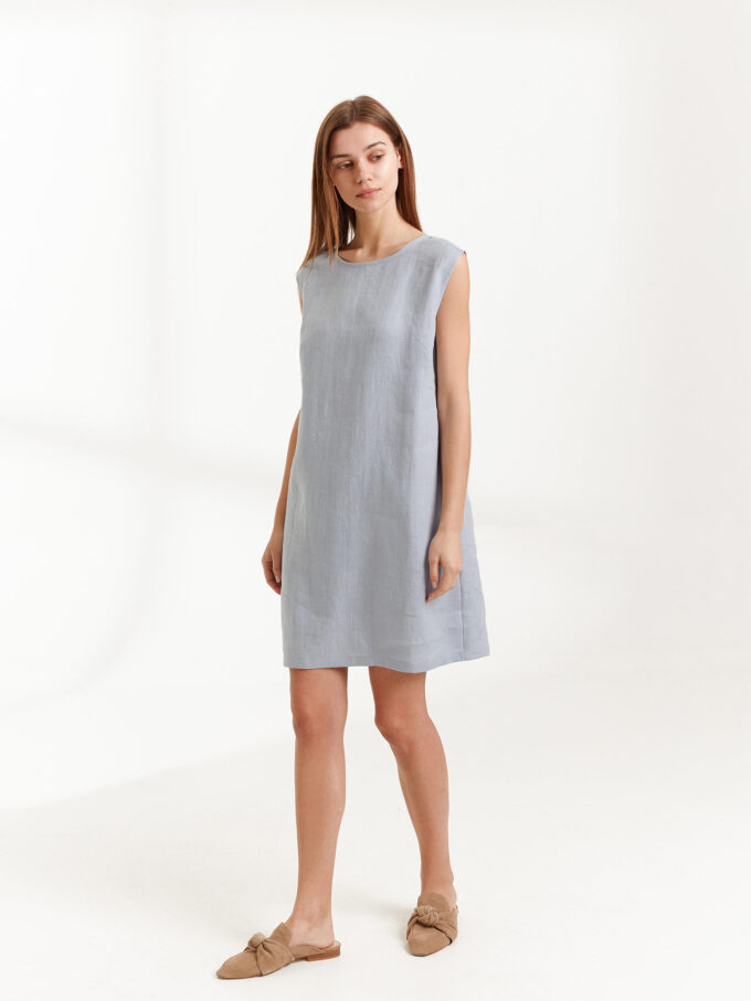 Image 4 of AJA Linen Tank Dress in Bluestone from Love and Confuse