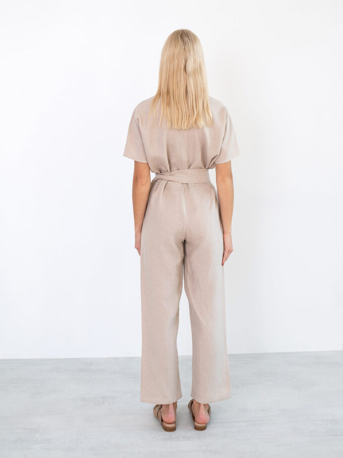 Image 5 of AURORA Linen Jumpsuit in Beige from Love and Confuse
