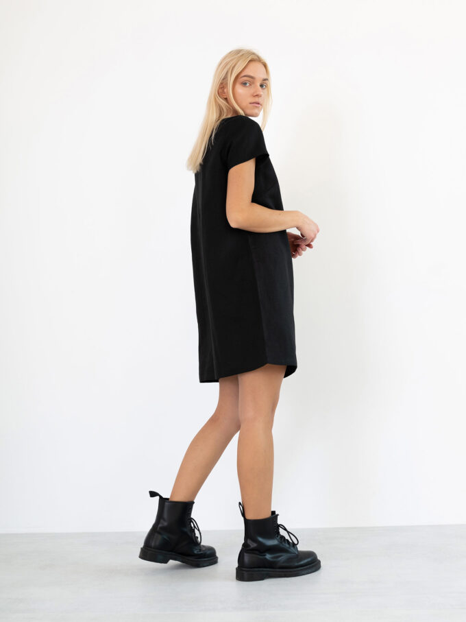 Image 1 of BEATRICE Linen Dress in Black from Love and Confuse