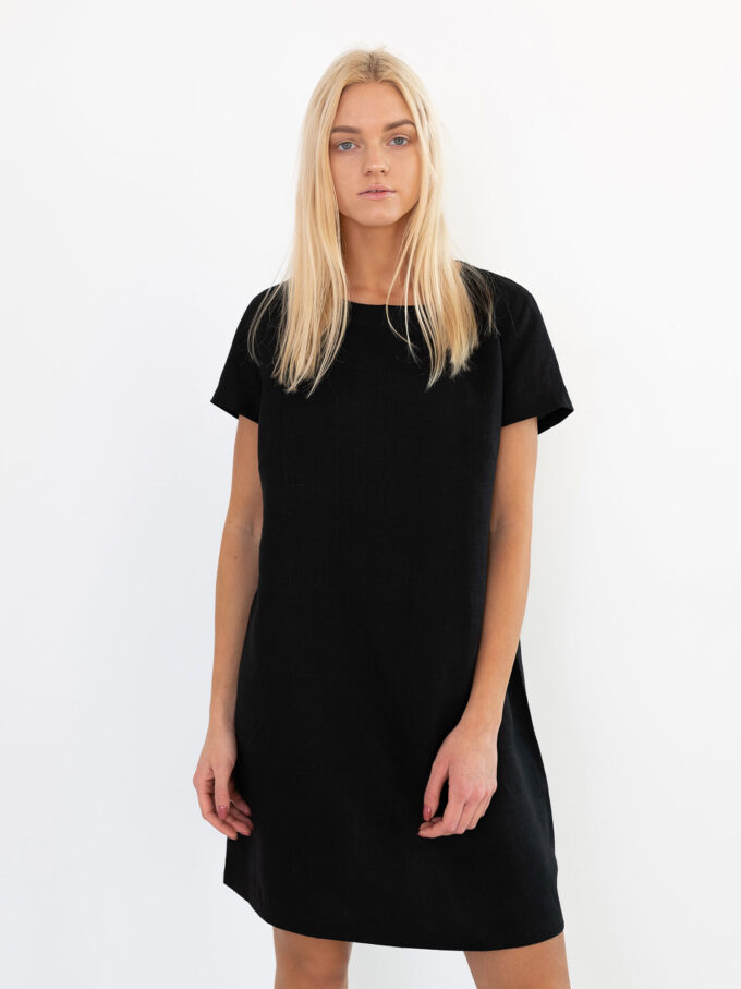Image 3 of BEATRICE Linen Dress in Black from Love and Confuse