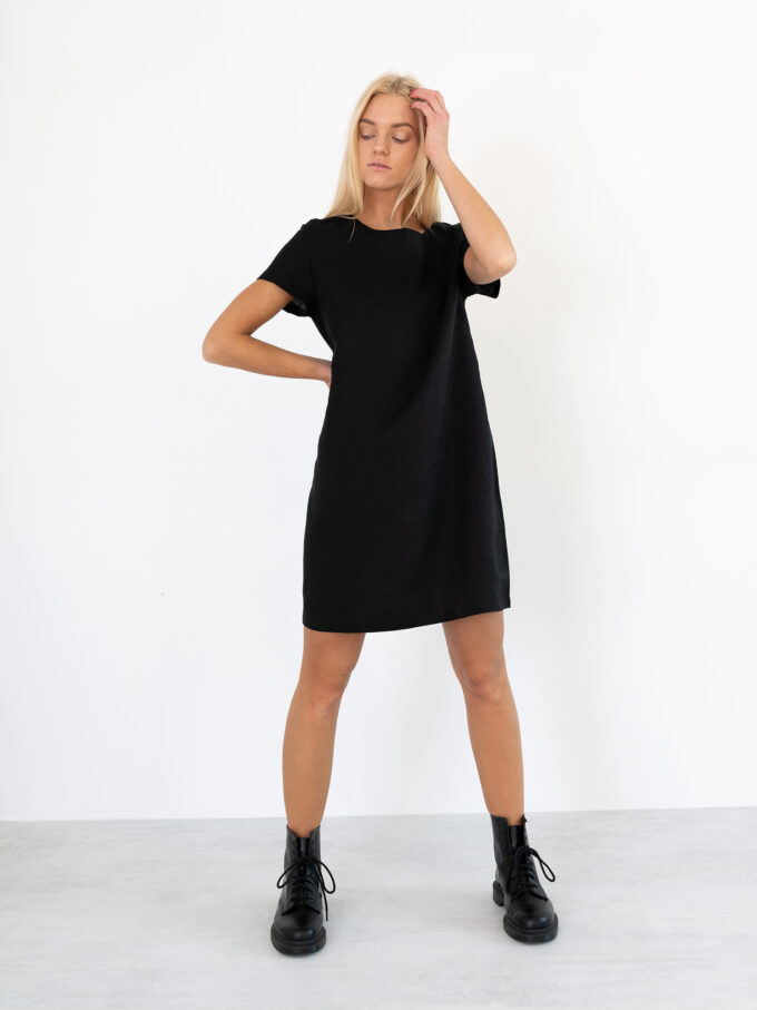 Image 4 of BEATRICE Linen Dress in Black from Love and Confuse