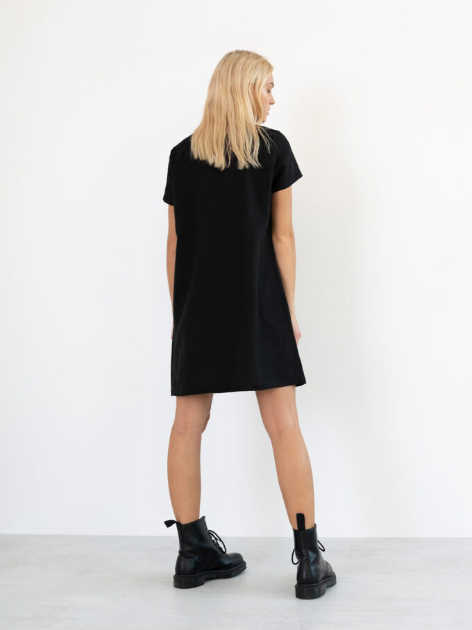 Image 5 of BEATRICE Linen Dress in Black from Love and Confuse