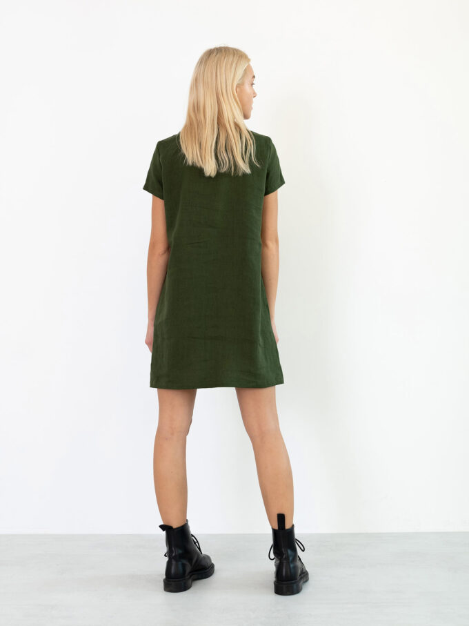 Image 5 of BEATRICE Linen Dress in Forest Green from Love and Confuse