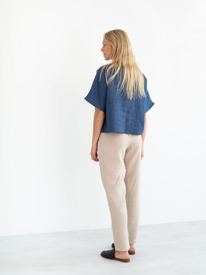 Image 6 of BEE Linen Top in Denim from Love and Confuse