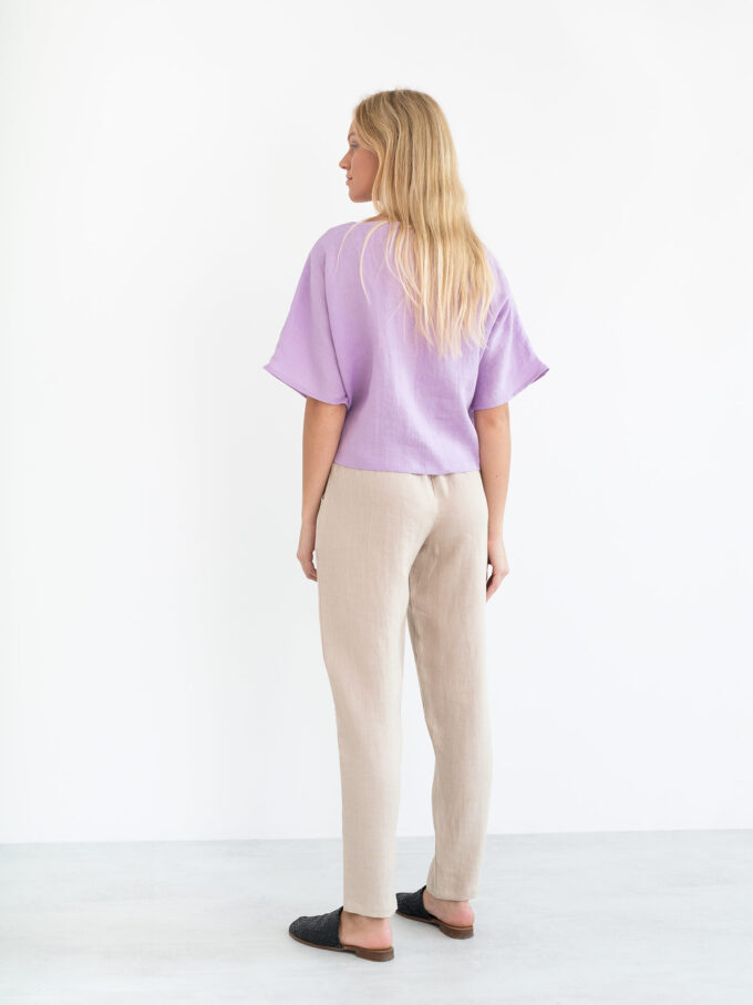 Image 6 of BEE Linen Top in Lilac from Love and Confuse