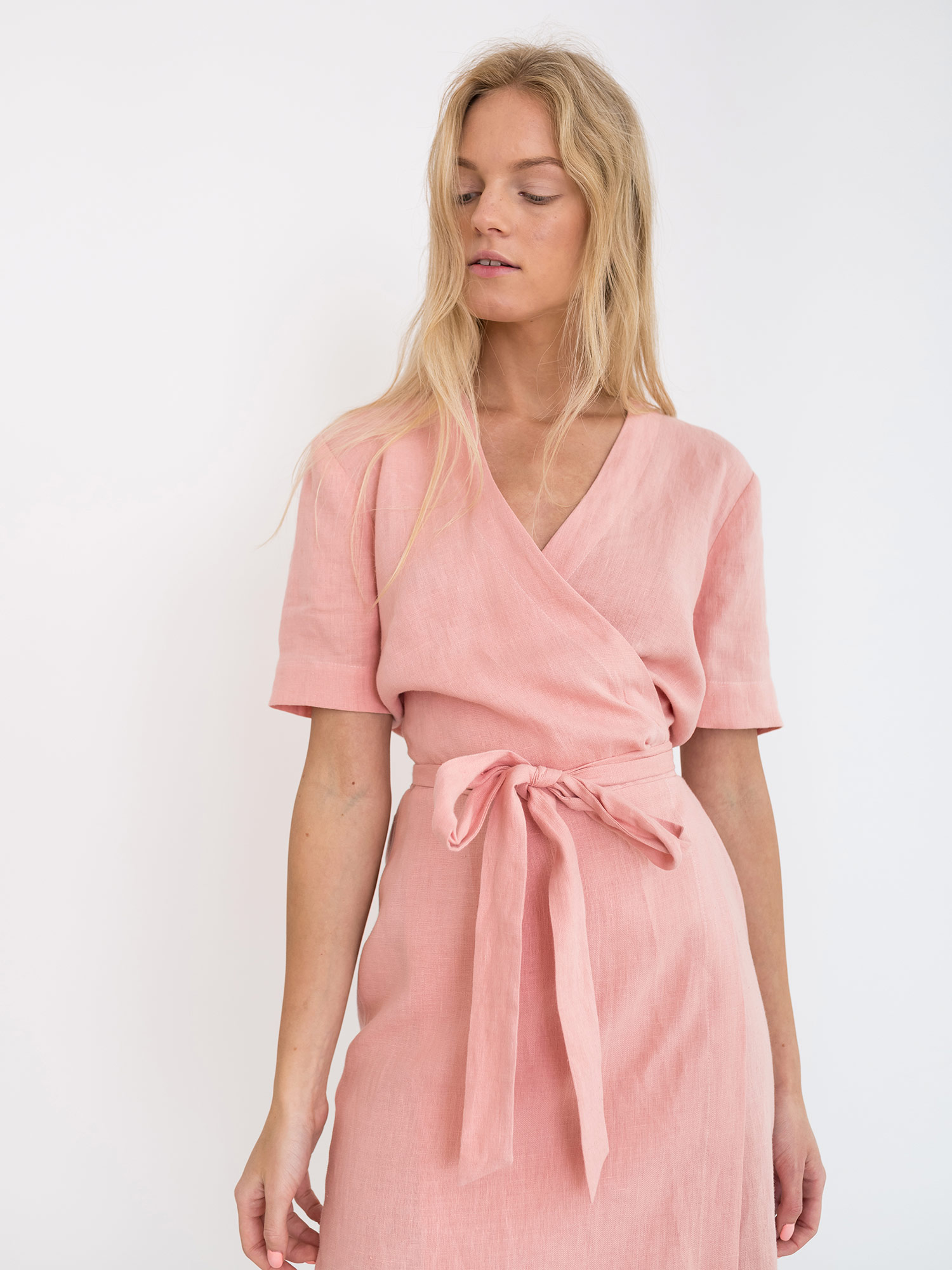 Brigitte Linen Wrap Dress Love And Confuse