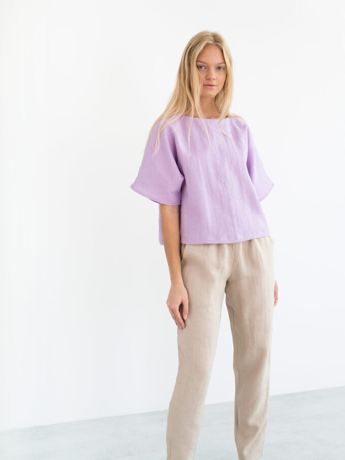 Image 1 of BRINLEY Linen Pants in Beige from Love and Confuse