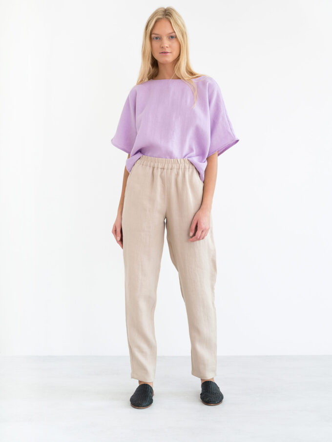 Image 4 of BRINLEY Linen Pants in Beige from Love and Confuse