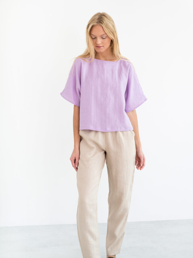 Image 5 of BRINLEY Linen Pants in Beige from Love and Confuse