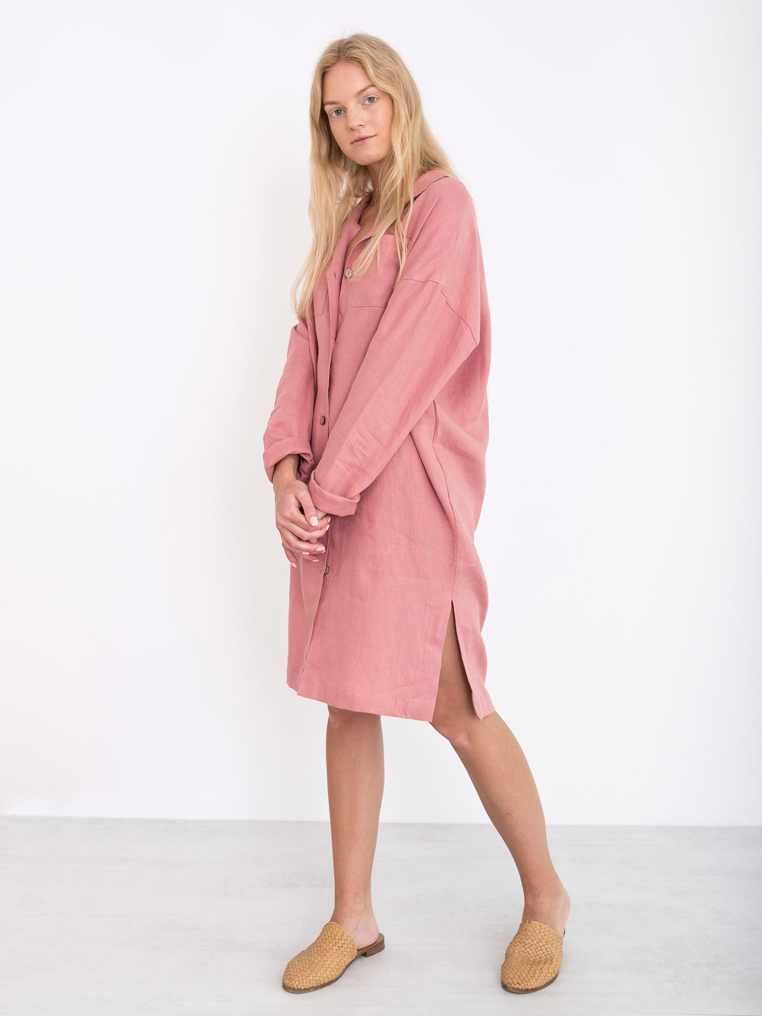 Iris Linen Shirt Dress Love And Confuse