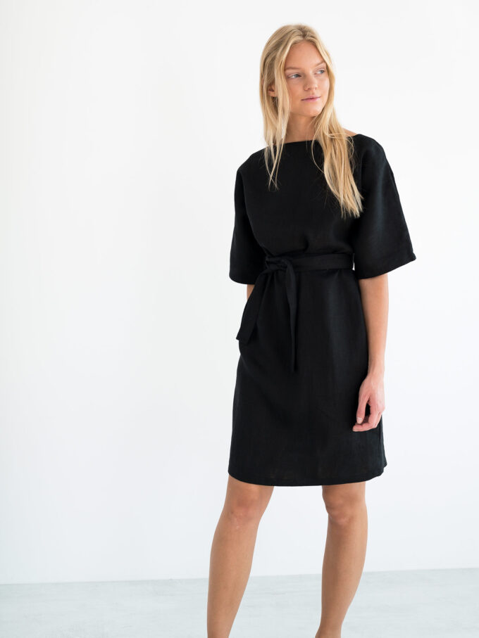 Image 3 of ISABEL Linen Dress in Black from Love and Confuse