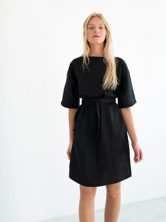 Image 4 of ISABEL Linen Dress in Black from Love and Confuse