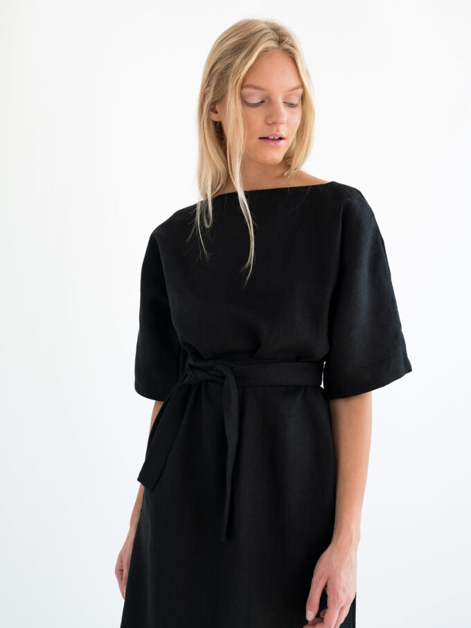 Image 5 of ISABEL Linen Dress in Black from Love and Confuse