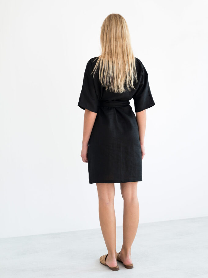 Image 6 of ISABEL Linen Dress in Black from Love and Confuse