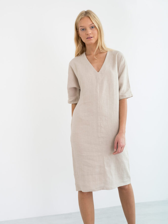 Image 3 of JASMINE Linen Dress in Beige from Love and Confuse
