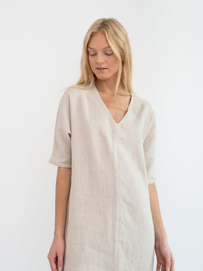 Image 4 of JASMINE Linen Dress in Beige from Love and Confuse