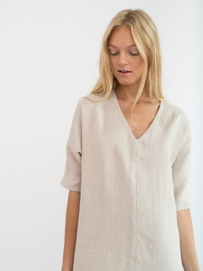 Image 5 of JASMINE Linen Dress in Beige from Love and Confuse