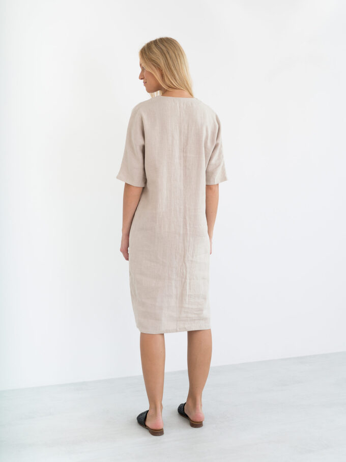 Image 6 of JASMINE Linen Dress in Beige from Love and Confuse