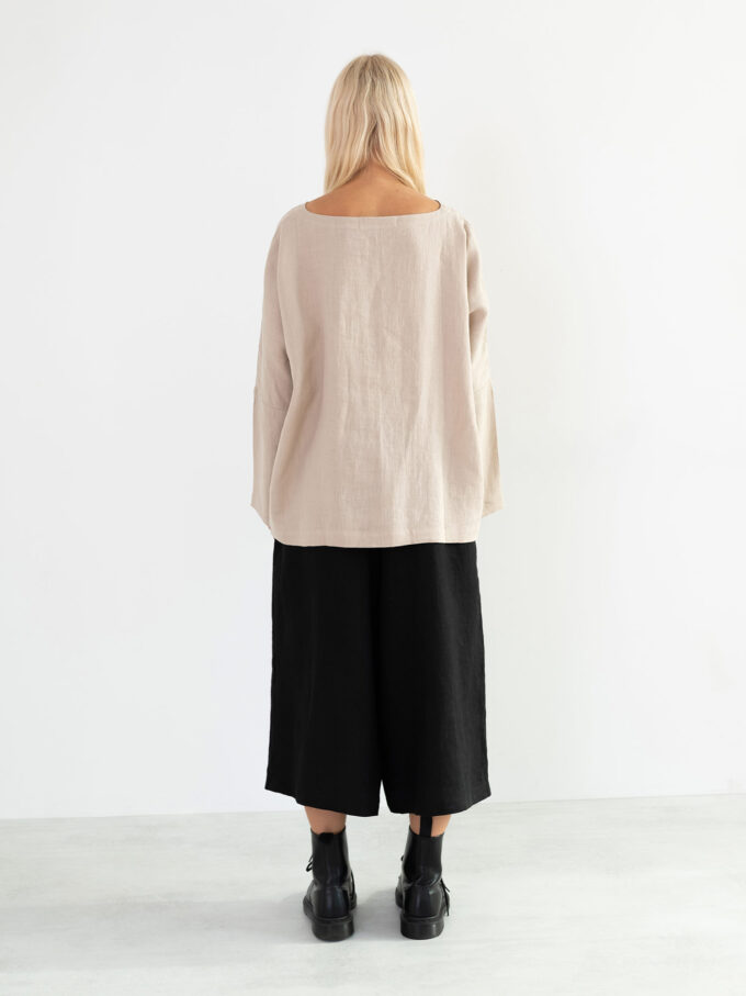 Image 5 of JAYDEN Linen Culottes in Black from Love and Confuse