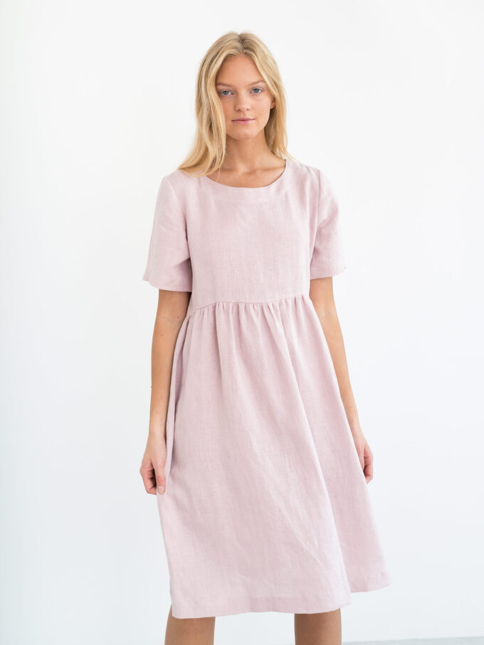 Image 1 of MATILDA Linen Dress in Apple Blossom from Love and Confuse