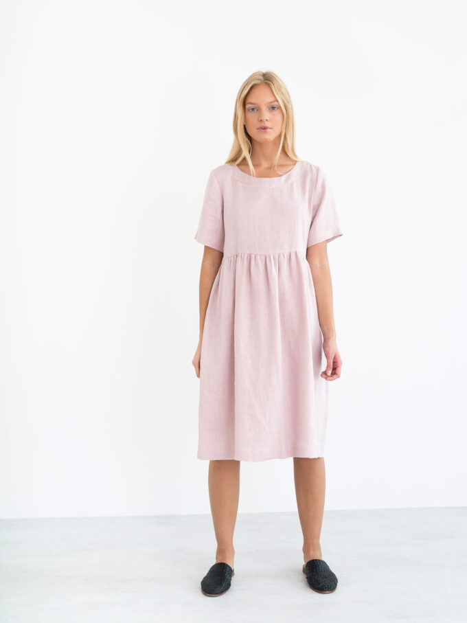 Image 2 of MATILDA Linen Dress in Apple Blossom from Love and Confuse