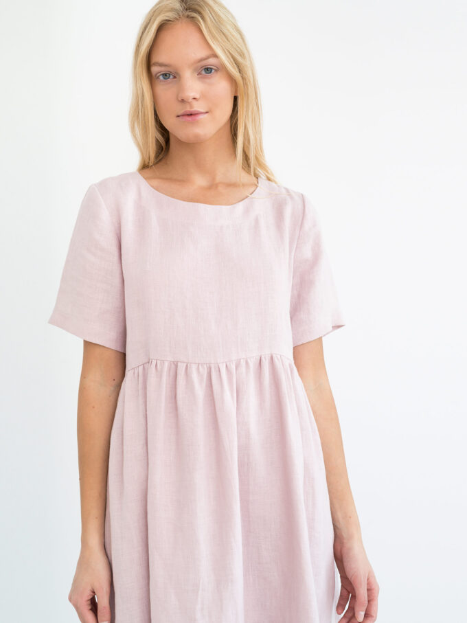 Image 3 of MATILDA Linen Dress in Apple Blossom from Love and Confuse