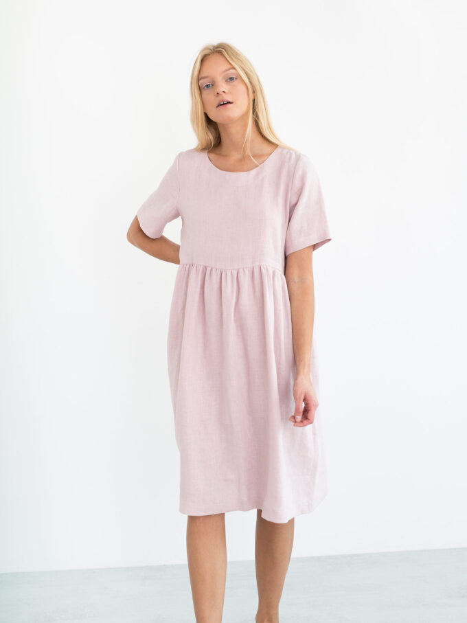 Image 4 of MATILDA Linen Dress in Apple Blossom from Love and Confuse