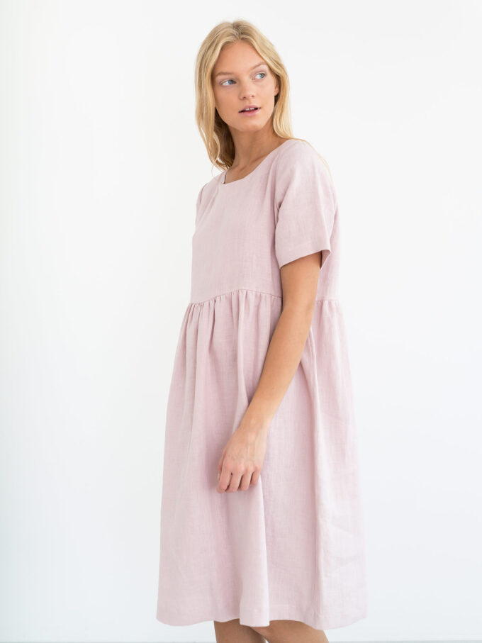 Image 5 of MATILDA Linen Dress in Apple Blossom from Love and Confuse