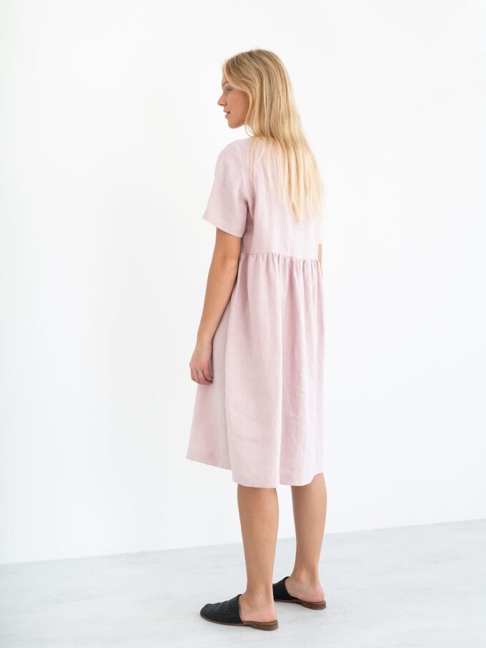 Image 6 of MATILDA Linen Dress in Apple Blossom from Love and Confuse