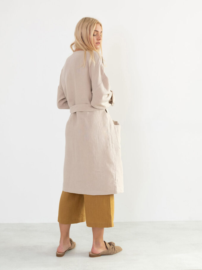 Image 5 of NORA Linen Coat in Beige from Love and Confuse