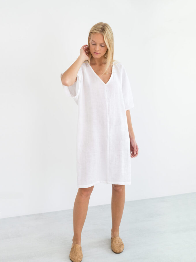 Image 1 of PEONY Linen Dress in White from Love and Confuse