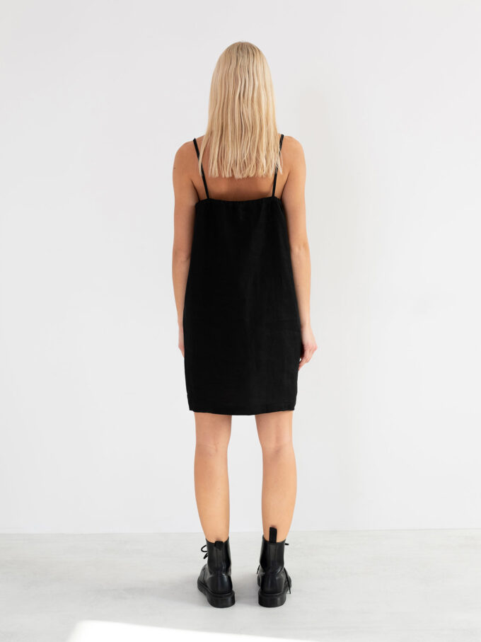 Image 6 of VIOLET Linen Slip Dress in Black from Love and Confuse