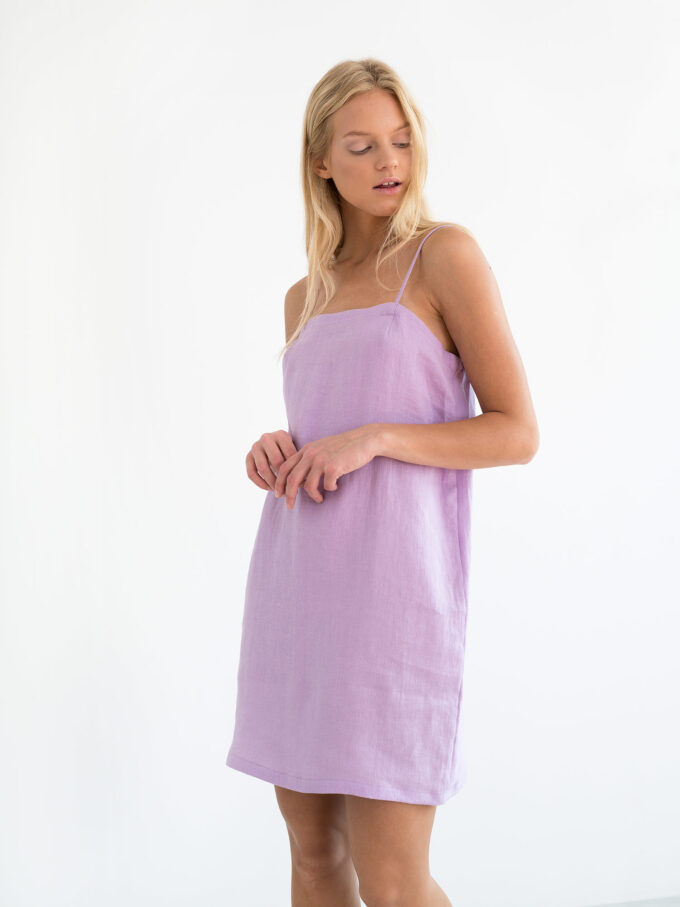 Image 1 of VIOLET Linen Slip Dress in Lilac from Love and Confuse