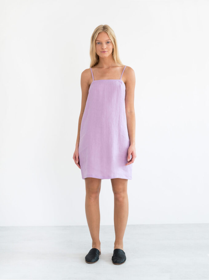 Image 2 of VIOLET Linen Slip Dress in Lilac from Love and Confuse